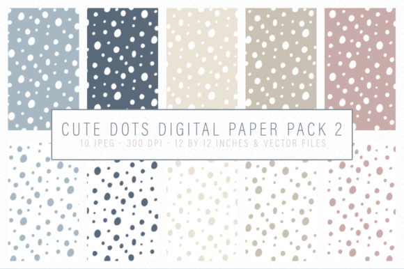 Download Free Cute Dots Digital Papers Graphic By By Lef Creative Fabrica for Cricut Explore, Silhouette and other cutting machines.