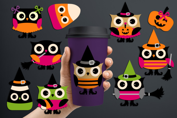 Print on Demand: Cute Owl Halloween Graphic Illustrations By Revidevi