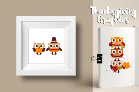 Download Free Cute Owl Thanksgiving Autumn Fall Season Graphic By Revidevi for Cricut Explore, Silhouette and other cutting machines.