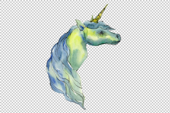 Download Free Cute Unicorn Horse Watercolor Set Graphic By Mystocks Creative SVG Cut Files