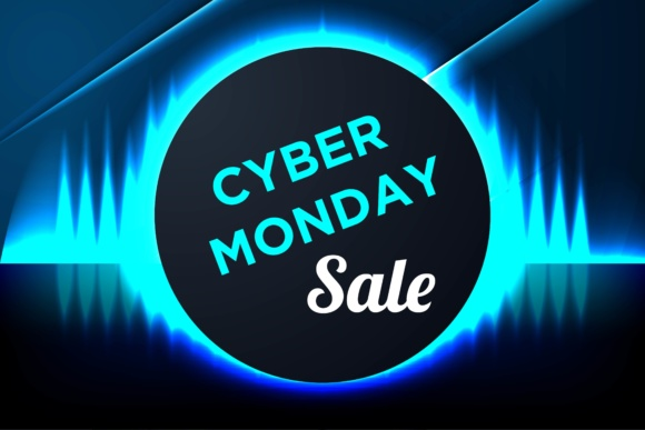 Print on Demand: Cyber Monday Sale Background for Good Deal Promotion Template Graphic Graphic Templates By yahyaanasatokillah - Image 1