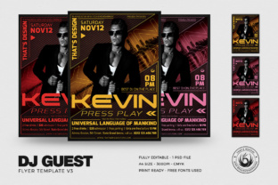 DJ Guest Flyer Template V3 Graphic By ThatsDesignStore