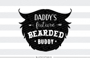 Print on Demand: Daddy's Future Bearded Buddy SVG Graphic Crafts By BlackCatsMedia