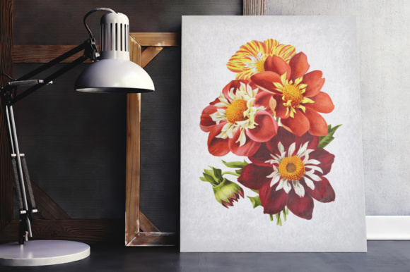 Dahlias Watercolor Graphic Illustrations By Enliven Designs - Image 2
