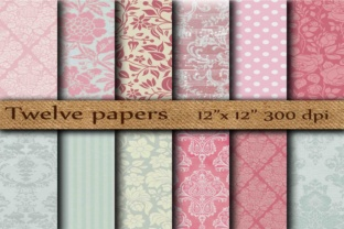 Damask Digital Paper Graphic By twelvepapers