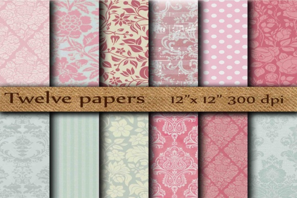 Damask Digital Paper Graphic By twelvepapers Image 1