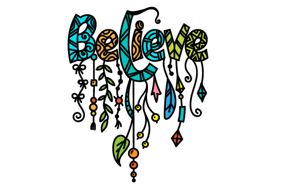 Dangle Design - Believe Quotes Craft Cut File By Creative Fabrica Crafts
