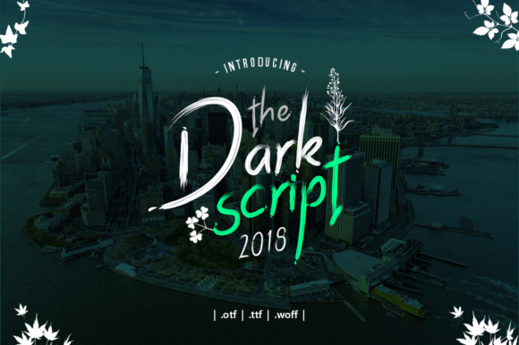 Download Free Dark Script Font By Yantodesign Creative Fabrica for Cricut Explore, Silhouette and other cutting machines.