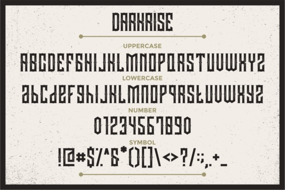 Print on Demand: Darkrise Display Font By putracetol - Image 2