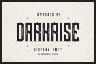 Print on Demand: Darkrise Display Font By putracetol