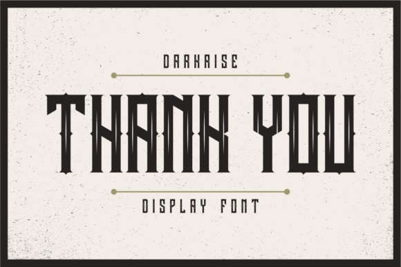 Print on Demand: Darkrise Display Font By putracetol - Image 6