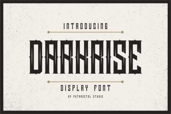 Darkrise Display Font By putracetol