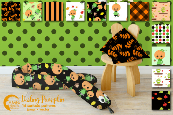 Download Free Darling Halloween Papers Amb Graphic By Ambillustrations for Cricut Explore, Silhouette and other cutting machines.