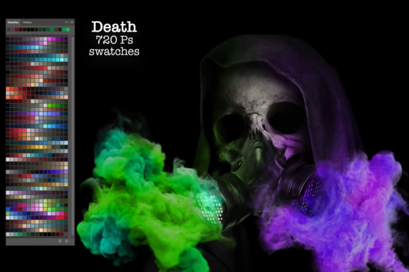 Print on Demand: Death Ps Swatches Graphic Add-ons By PandoraDreams