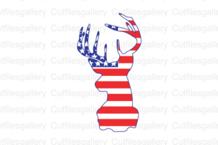 Download Free Deer American Flag Graphic By Cutfilesgallery Creative Fabrica for Cricut Explore, Silhouette and other cutting machines.