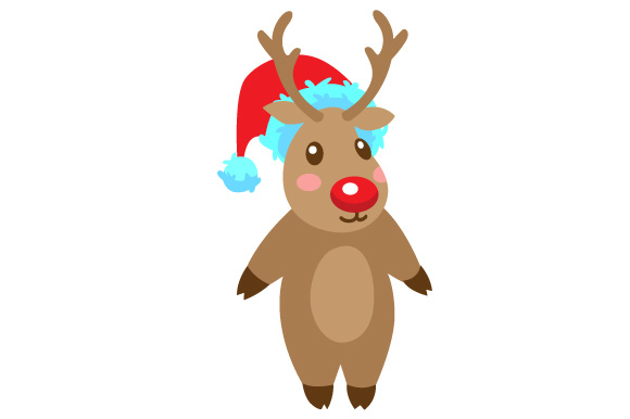 Download Free Deer With Christmas Hat Svg Cut File By Creative Fabrica Crafts SVG Cut Files