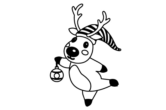 Download Free Deer With Christmas Hat Svg Cut File By Creative Fabrica Crafts for Cricut Explore, Silhouette and other cutting machines.