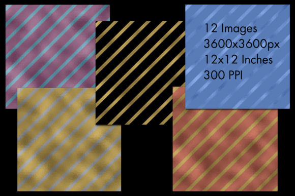 Print on Demand: Diagonal Striped Backgrounds - 12 Image Set Graphic Backgrounds By SapphireXDesigns - Image 2