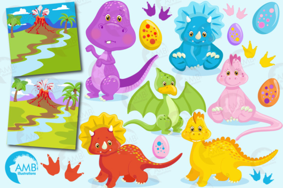 Dinosaur Clipart Graphic Illustrations By AMBillustrations - Image 4