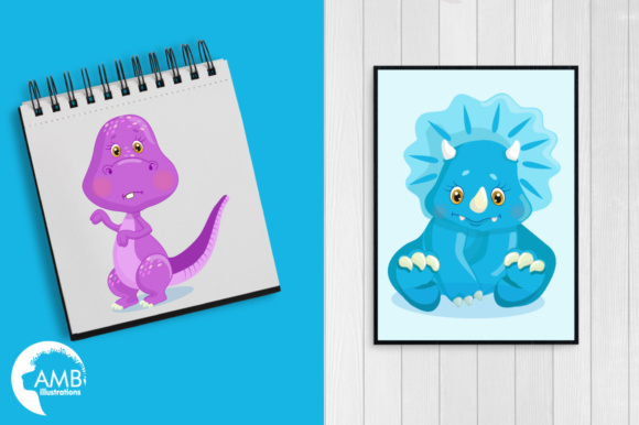 Dinosaur Clipart Graphic Illustrations By AMBillustrations - Image 5