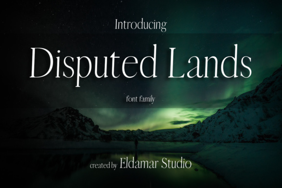 Print on Demand: Disputed Lands Serif Font By Eldamar Studio Fonts