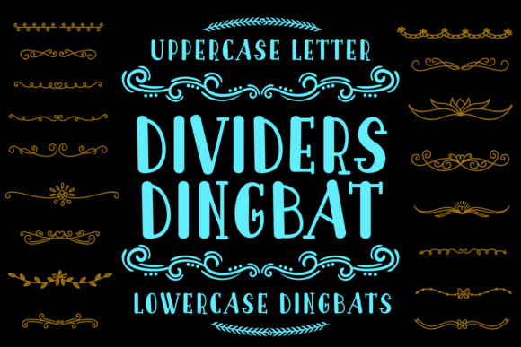 Print on Demand: Dividers Dingbat Dingbats Font By Lickable Pixels