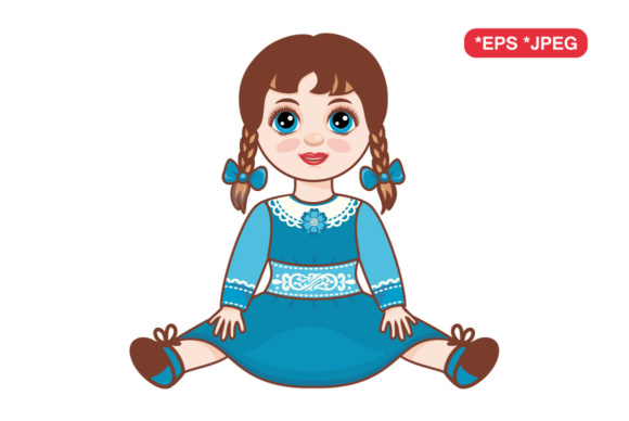 Download Free Doll Children S Toy Graphic By Zoyali Creative Fabrica for Cricut Explore, Silhouette and other cutting machines.