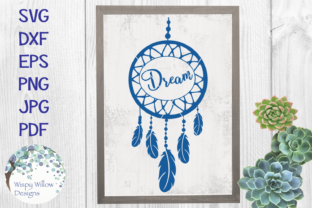 Download Free Dream Boho Dreamcatcher Graphic By Wispywillowdesigns Creative for Cricut Explore, Silhouette and other cutting machines.