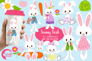 Download Free Easter Bunnies Clipart Grafik Von Ambillustrations Creative for Cricut Explore, Silhouette and other cutting machines.