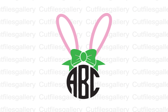Download Free Easter Buuny Monogram Graphic By Cutfilesgallery Creative Fabrica for Cricut Explore, Silhouette and other cutting machines.