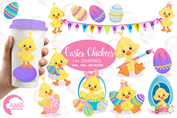 Easter Chick Clipart Graphic By Ambillustrations Creative Fabrica
