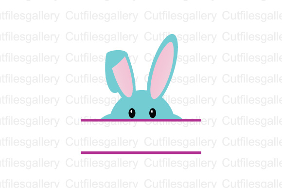 Download Free Easter Cute Rabbit Monogram Cut File Graphic By Cutfilesgallery for Cricut Explore, Silhouette and other cutting machines.