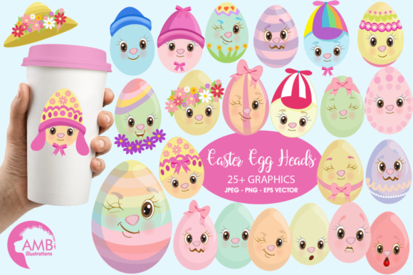 Easter Egg Clipart Graphic Illustrations By AMBillustrations