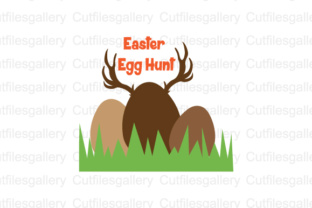 Download Free Easter Egg Hunt Cut File Graphic By Cutfilesgallery Creative for Cricut Explore, Silhouette and other cutting machines.