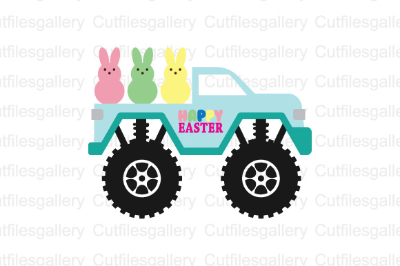 Download Free Easter Truck Graphic By Cutfilesgallery Creative Fabrica for Cricut Explore, Silhouette and other cutting machines.