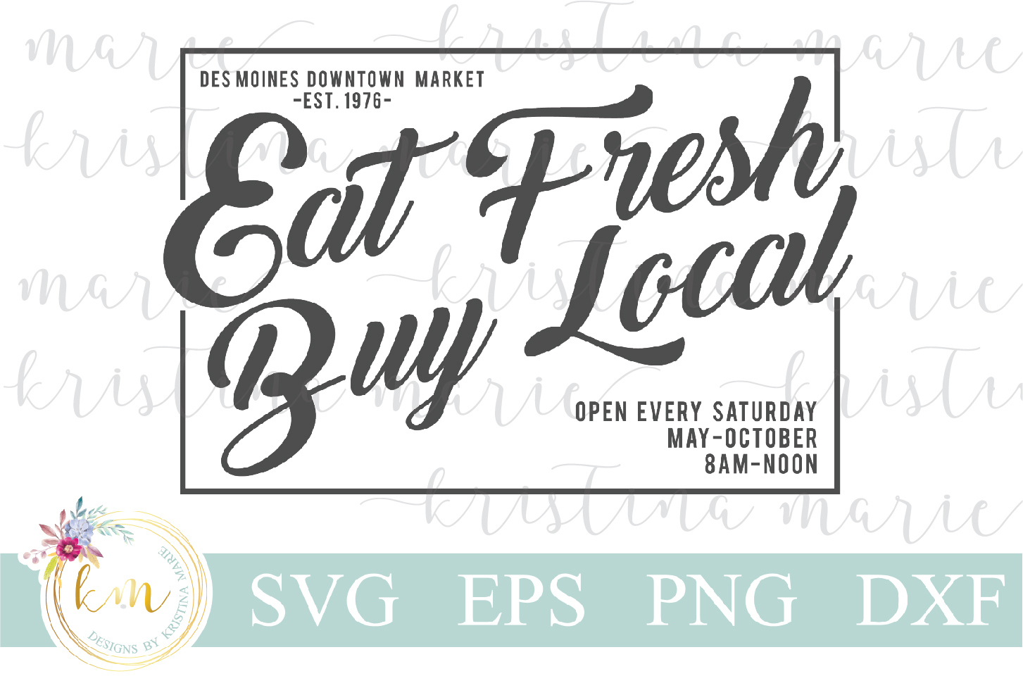 Download Free Eat Fresh Graphic By Kristina Marie Design Creative Fabrica for Cricut Explore, Silhouette and other cutting machines.