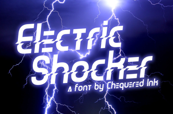 Print on Demand: Electric Shocker Display Font By Chequered Ink - Image 1