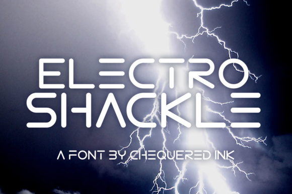 Print on Demand: Electro Shackle Display Font By Chequered Ink