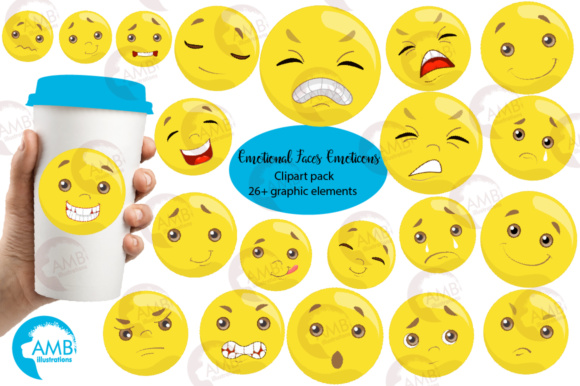 Emoticons Clipart Graphic Illustrations By AMBillustrations