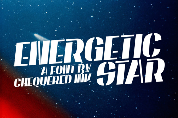 Print on Demand: Energetic Star Display Font By Chequered Ink