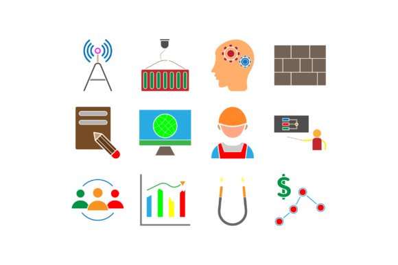 Engineering and Manufacturing Vector Icon Set Graphic Icons By anasofart
