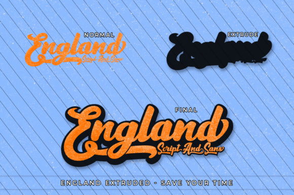 Print on Demand: England Script Script & Handwritten Font By Max.co - Image 4