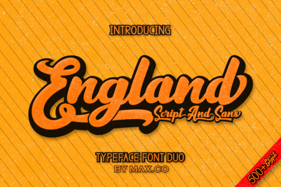 Print on Demand: England Script Script & Handwritten Font By Max.co - Image 1