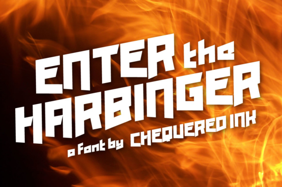 Print on Demand: Enter the Harbinger Display Font By Chequered Ink