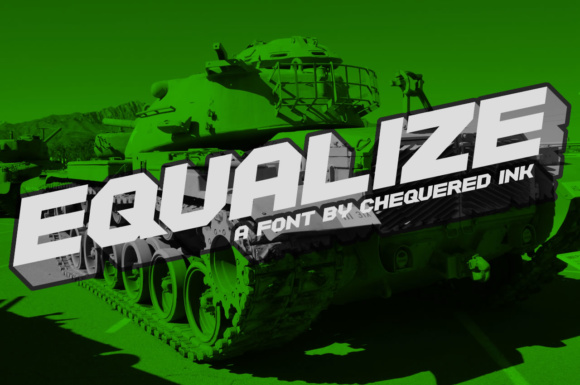 Print on Demand: Equalize Display Font By Chequered Ink