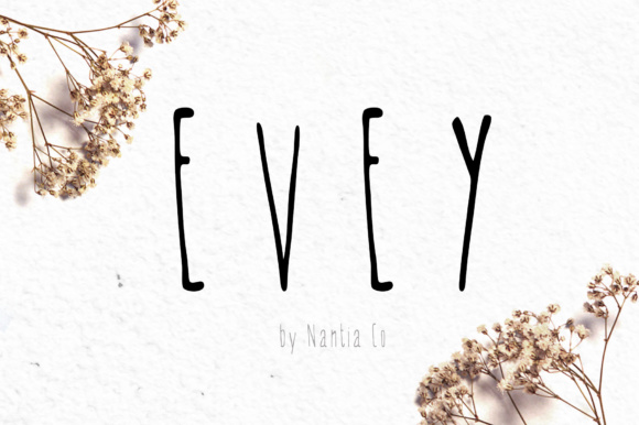Print on Demand: Evey Script & Handwritten Font By nantia