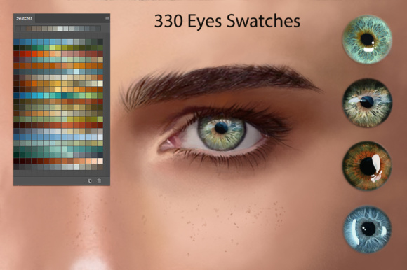 Eyes Ps Swatches for Digital Painting Graphic Add-ons By FaeryDesign