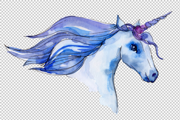 Download Free Fabulous Unicorns Horse Png Watercolor Set Graphic By Mystocks for Cricut Explore, Silhouette and other cutting machines.