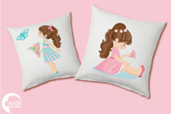 Fairy Girls Clipart Graphic Illustrations By AMBillustrations - Image 3