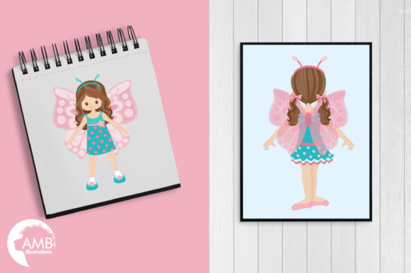 Fairy Girls Clipart Graphic Illustrations By AMBillustrations - Image 4